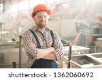 happy young cross armed man in... | Shutterstock . vector #1362060692