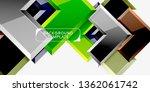 glossy arrows geometric... | Shutterstock .eps vector #1362061742