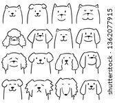 vector set of dogs | Shutterstock .eps vector #1362077915