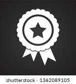 awards icon on background for... | Shutterstock .eps vector #1362089105