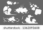 steam clouds collection.... | Shutterstock .eps vector #1362093608