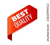 red vector banner ribbon on...