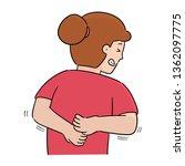 vector of woman scratching her... | Shutterstock .eps vector #1362097775