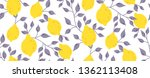 seamless pattern with yellow... | Shutterstock .eps vector #1362113408