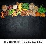 assortment of high magnesium... | Shutterstock . vector #1362113552