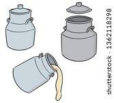vector set of milk can | Shutterstock .eps vector #1362118298