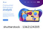 tiny people  marketer with...   Shutterstock .eps vector #1362124205