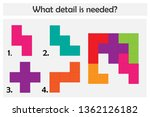 puzzle game with colorful... | Shutterstock .eps vector #1362126182