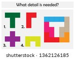 puzzle game with colorful... | Shutterstock .eps vector #1362126185
