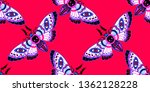 seamless pattern. dead head... | Shutterstock . vector #1362128228