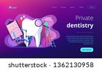 dentist with magnifier on... | Shutterstock .eps vector #1362130958