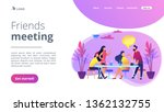 group of friends sitting at the ...   Shutterstock .eps vector #1362132755