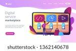 customer with shopping cart... | Shutterstock .eps vector #1362140678