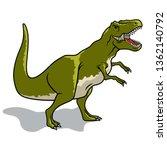 dinosaur. vector illustration.... | Shutterstock .eps vector #1362140792