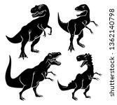 dinosaur silhouettes set.... | Shutterstock .eps vector #1362140798