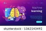 big brain with circuit and... | Shutterstock .eps vector #1362143492