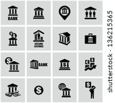 bank icons | Shutterstock .eps vector #136215365