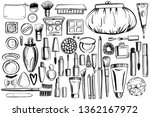 black and white cosmetics... | Shutterstock .eps vector #1362167972