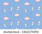 easter egg seamless pattern.... | Shutterstock .eps vector #1362174392