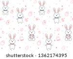easter egg seamless pattern.... | Shutterstock .eps vector #1362174395