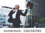 happy female entrepreneur...   Shutterstock . vector #1362182582
