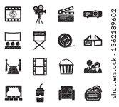 cinema icons. set 2. black...   Shutterstock .eps vector #1362189602