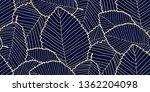 vector seamless leafs pattern... | Shutterstock .eps vector #1362204098