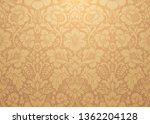 vector damask gold patterns.... | Shutterstock .eps vector #1362204128