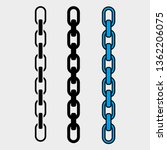 chain vector icons | Shutterstock .eps vector #1362206075