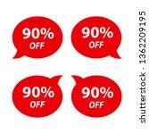 label sale 90    Shutterstock .eps vector #1362209195