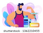 tiny people doctor with syringe ... | Shutterstock .eps vector #1362210455