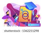 female teacher at board giving...   Shutterstock .eps vector #1362211298