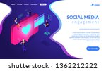 social media specialists and... | Shutterstock .eps vector #1362212222