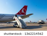 airbus a 330 at istanbul...   Shutterstock . vector #1362214562