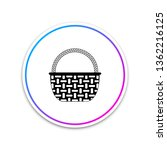 wicker basket icon isolated on... | Shutterstock .eps vector #1362216125