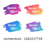 special offer color promo... | Shutterstock .eps vector #1362217718