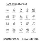 set of 20 line icons such as... | Shutterstock .eps vector #1362239708