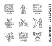 rpa linear icons set. robotic... | Shutterstock .eps vector #1362242195