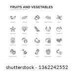 set of 20 line icons such as... | Shutterstock .eps vector #1362242552