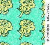 vector seamless grunge floral... | Shutterstock .eps vector #1362244382