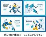 set template design  isometric... | Shutterstock .eps vector #1362247952