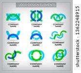 vector logo design elements set ... | Shutterstock .eps vector #1362248915