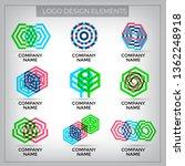 vector logo design elements set ... | Shutterstock .eps vector #1362248918