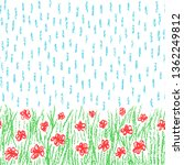 hand drawn flower meadow... | Shutterstock .eps vector #1362249812