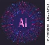 artificial intelligence machine ... | Shutterstock .eps vector #1362252485
