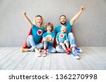 family of superheroes playing... | Shutterstock . vector #1362270998