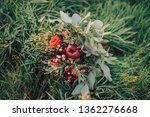 wedding bouquet in the grass | Shutterstock . vector #1362276668