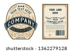 liquor beer  vintage label.... | Shutterstock .eps vector #1362279128
