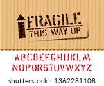 grunge fragile box sign stamp... | Shutterstock .eps vector #1362281108