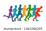 running marathon  people run ... | Shutterstock .eps vector #1362286205